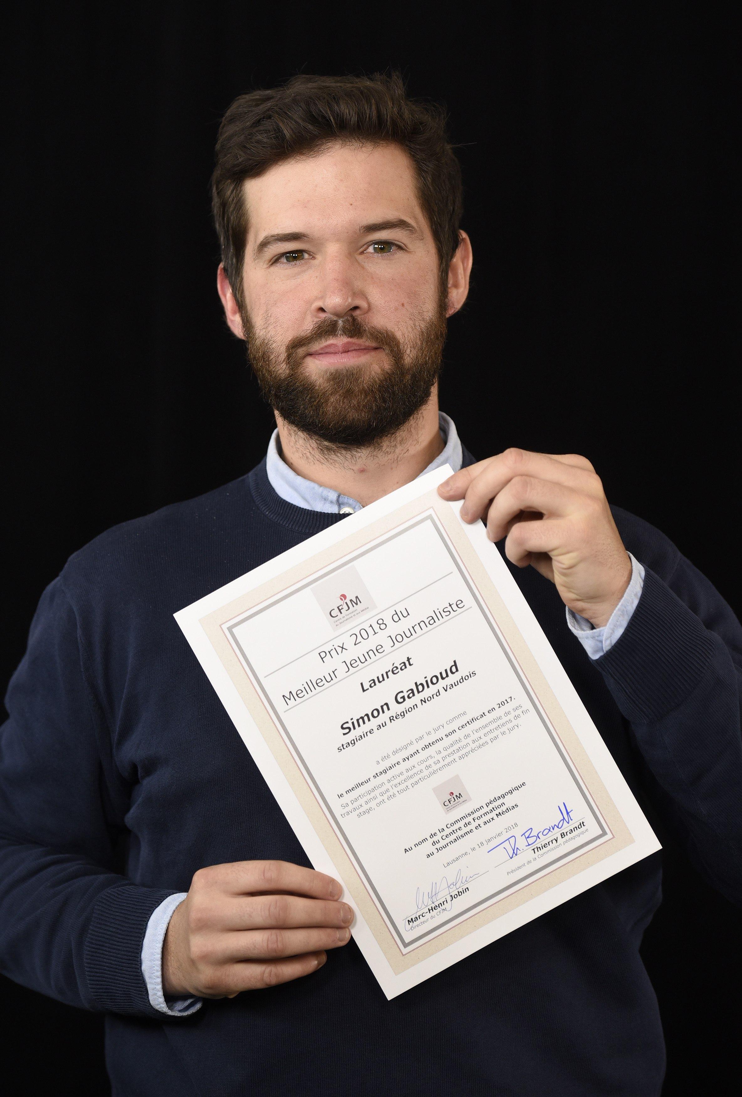 Simon gabioud laur at du prix 2018 du meilleur jeune journaliste centre de formation au - Prix du meilleur architecte ...