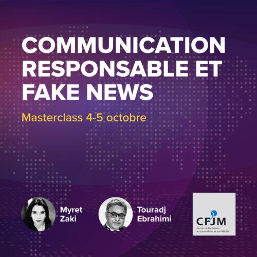 Communication responsable et fake news – 2ème édition automne 2021